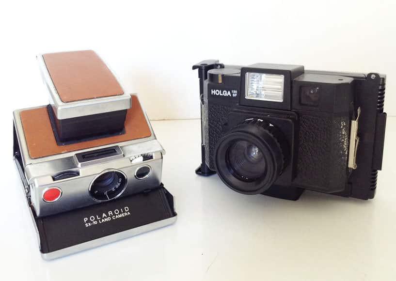 Polaroid SX70 & Polaroid Holga