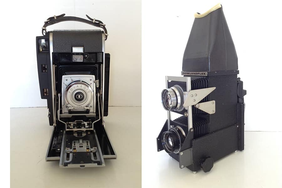 Polaroid 110 4x5 back & Gowlandflex 4x5