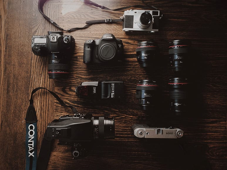 Find Camera Gear used by Professional Photographers