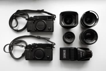 Fuji mirrorless camera gear