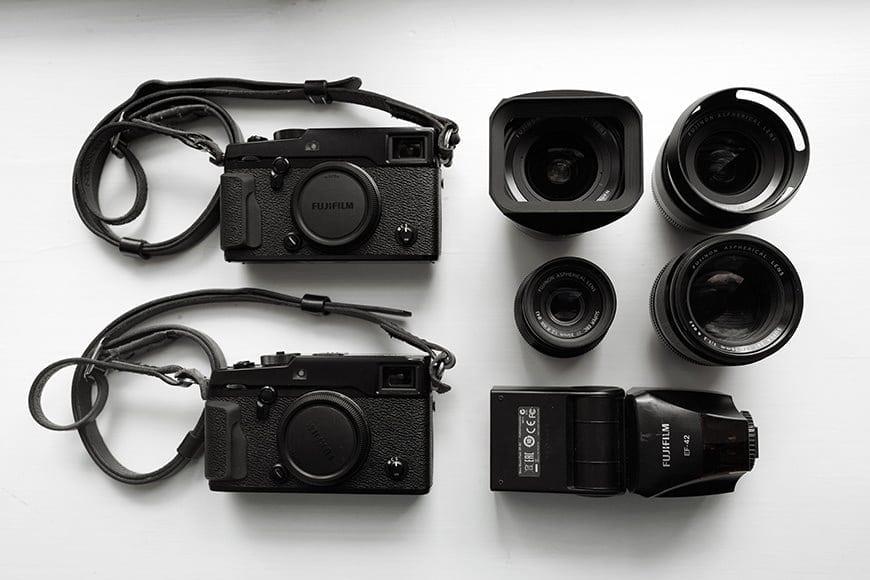 Fuji mirrorless camera gear