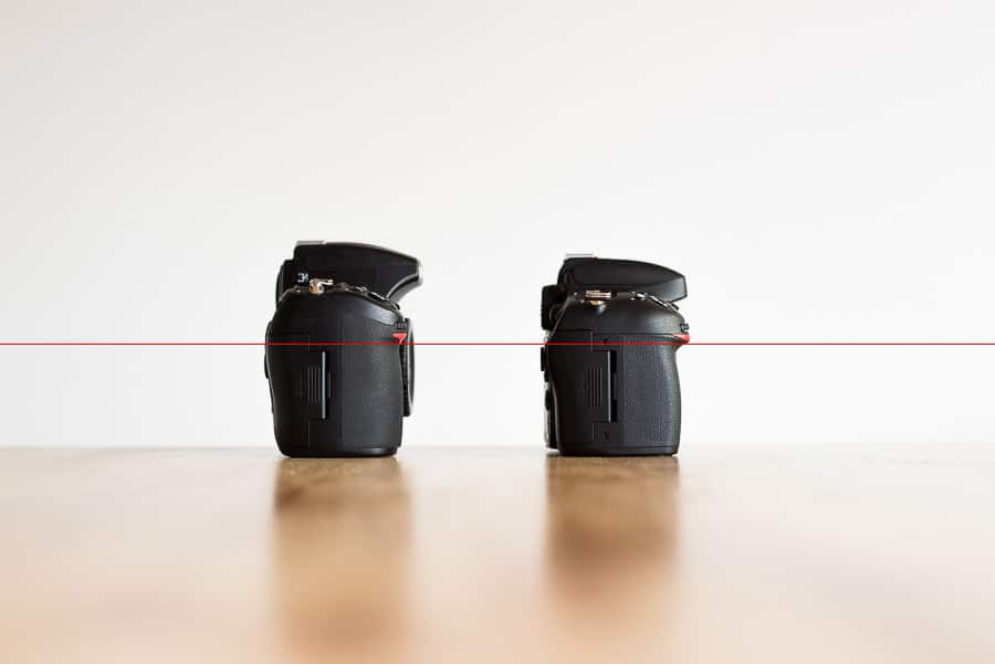 Grip size comparison Nikon D700 vs Nikon D610