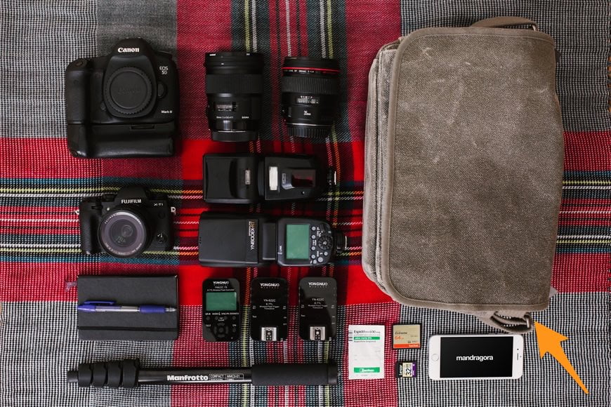 Think Tank Retrospective - Part of Kanayo Adibe's Wedding Photography Gear
