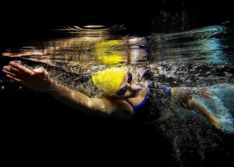Swimmer Julia Fraseur.