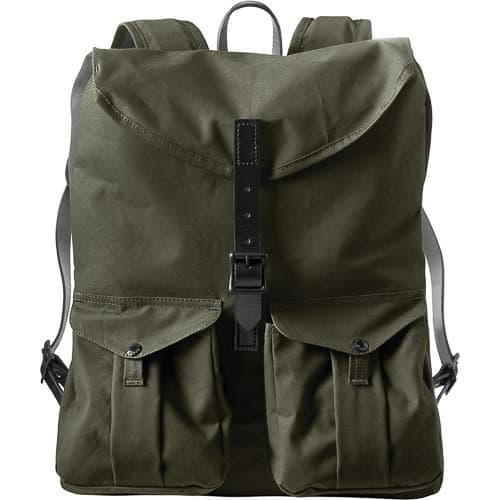 The Filson Harvey Backpack is one of the best looking camera back packs on the market right now.