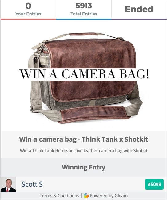Think Tank Giveaway