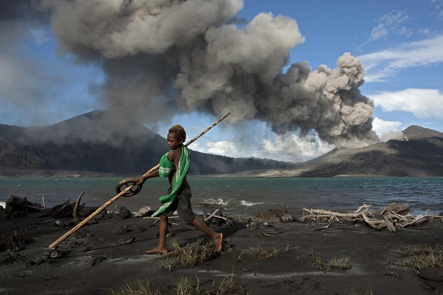 Ash City- life in the ashes. A volcano eruption burries a town from 1994 until 2011 in ash.