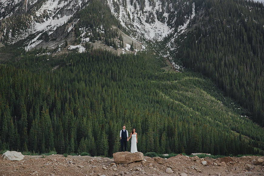 Crested Bbutte elopement wedding in the mountains of Colorado