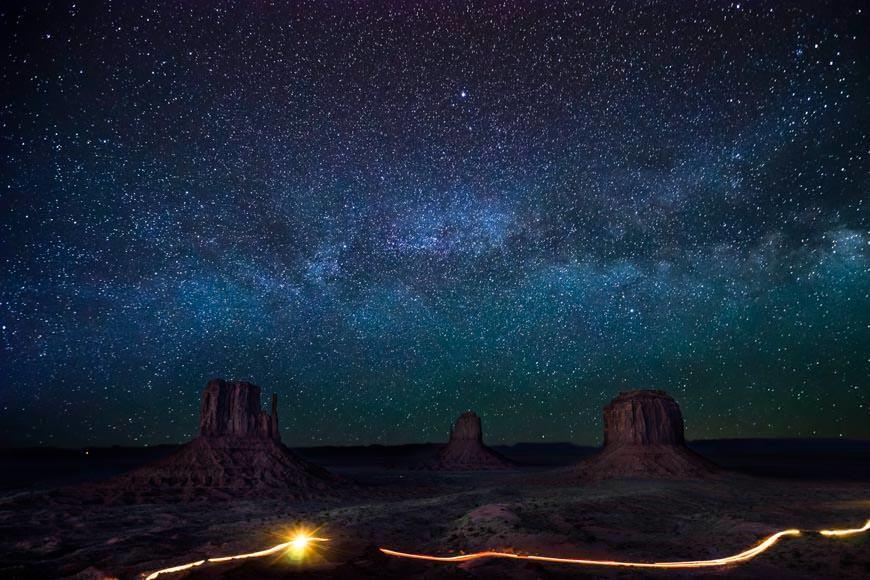 Monument Valley Beneath The Milky Way
