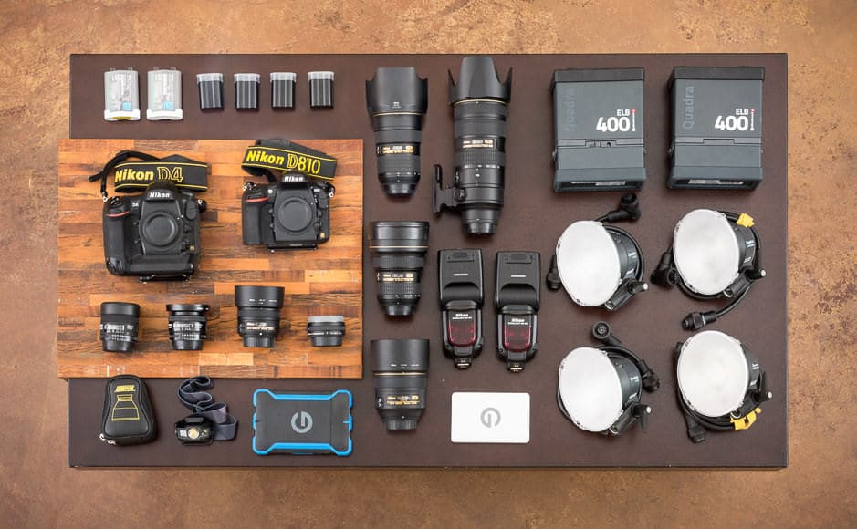 Images of Michael Clark's gear fro Shotkit.com.