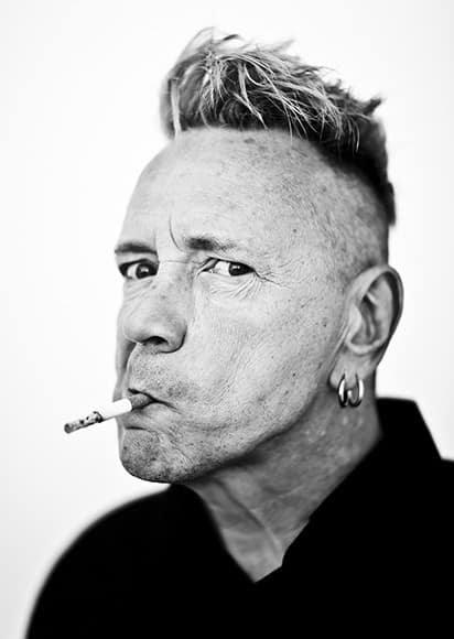 John Lydon aka Johnny Rotten of the Sex Pistols, photographed at