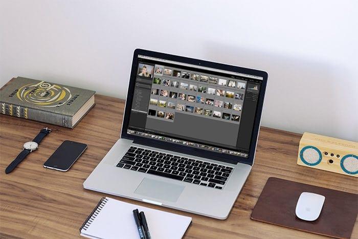 Lightroom on laptop