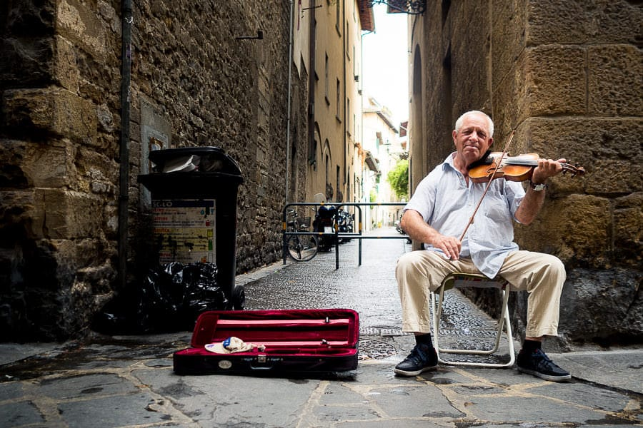 Violinist on the streets of Florence