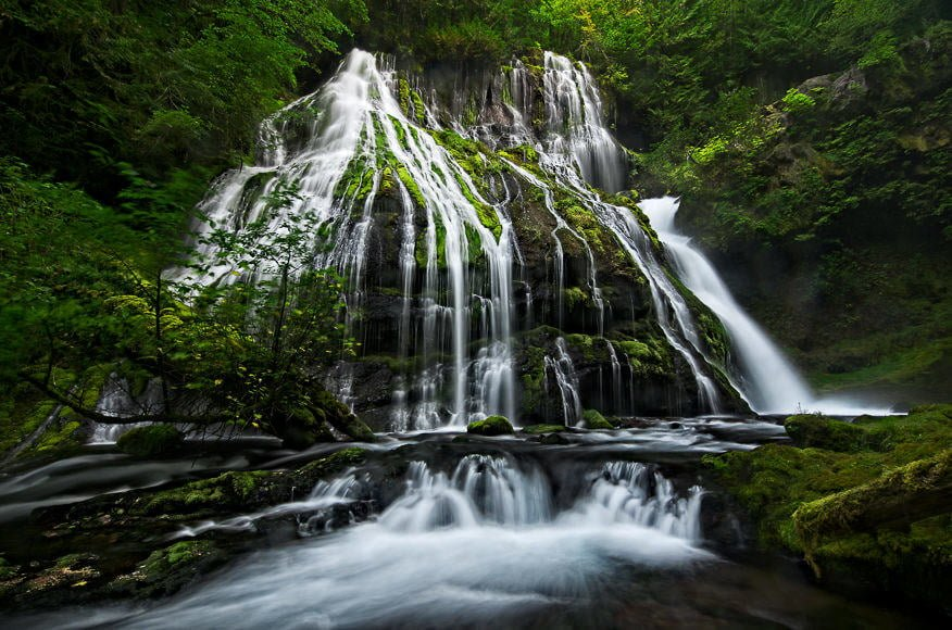 The full cascade of Panther Creek Falls in Washington is something to behold. It's well worth the scramble to the base of the falls. And on a sleepy Sunday morning, you'll have the whole place to yourself.