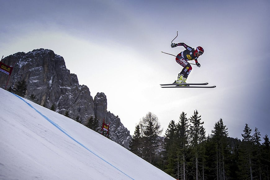 Bode Miller of the USA competes during the FIS Alpine World Cup Men's Downhill training, on December 18, 2013 in Val Gardena. AFP PHOTO / OLIVIER MORIN