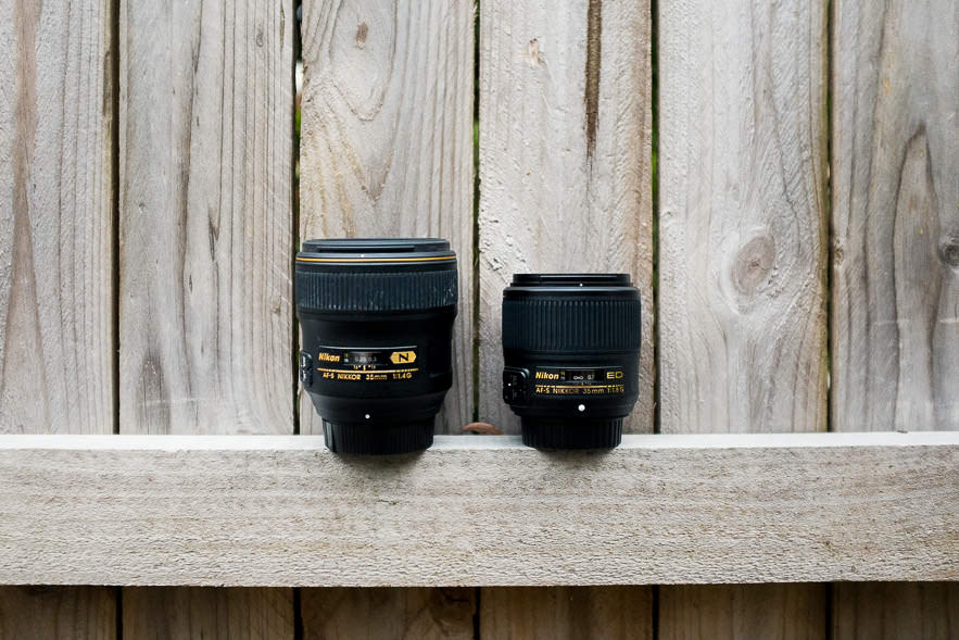 Nikon 35mm 1.8 compared to the 1.4