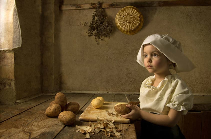 Not all portriat photographers rely on depth of field for subject separation, such as in this photo taken with a crop sensor mirrorless Fujifilm X100S by Bill Gekas.