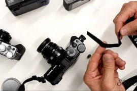 How to attach a camera strap