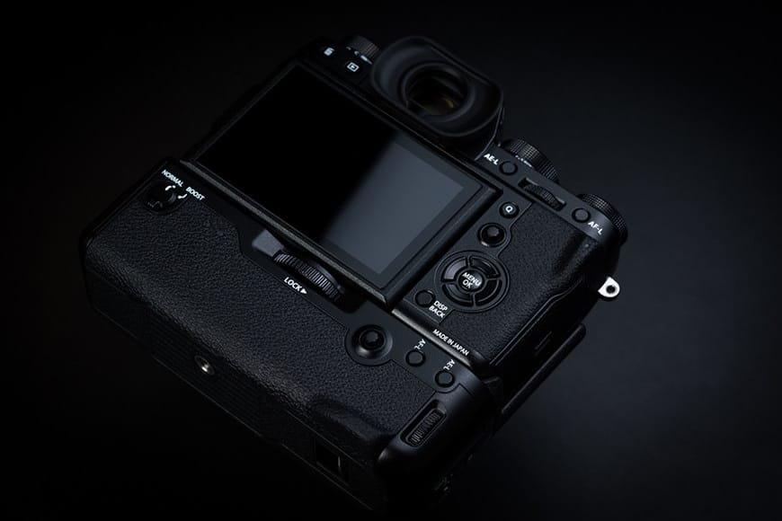 Fuji Xt2 with grip attached