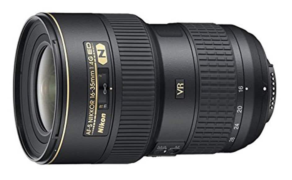Nikon 16-35mm f:4 wide angle lens
