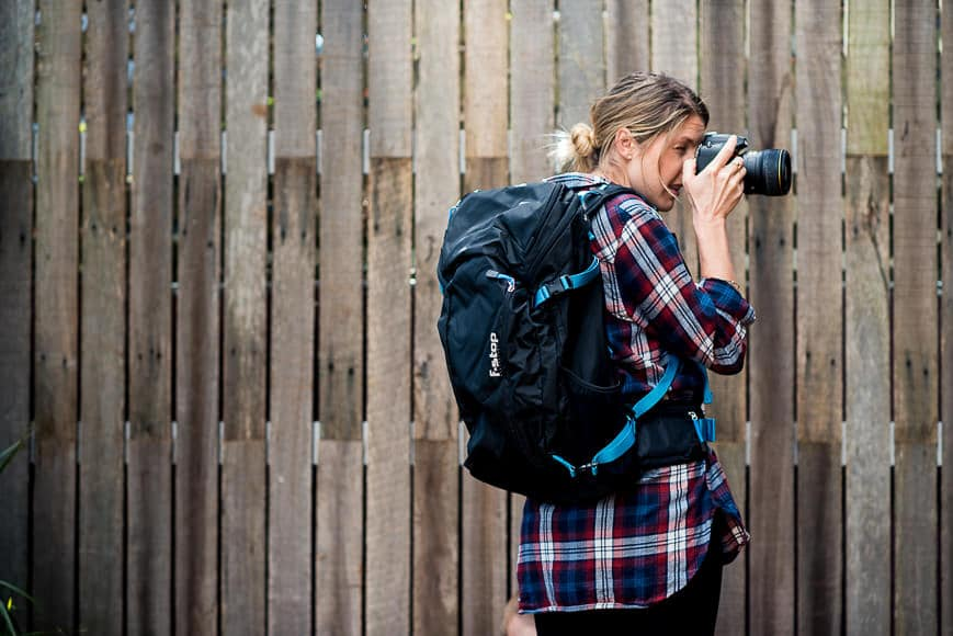womens camera backpack
