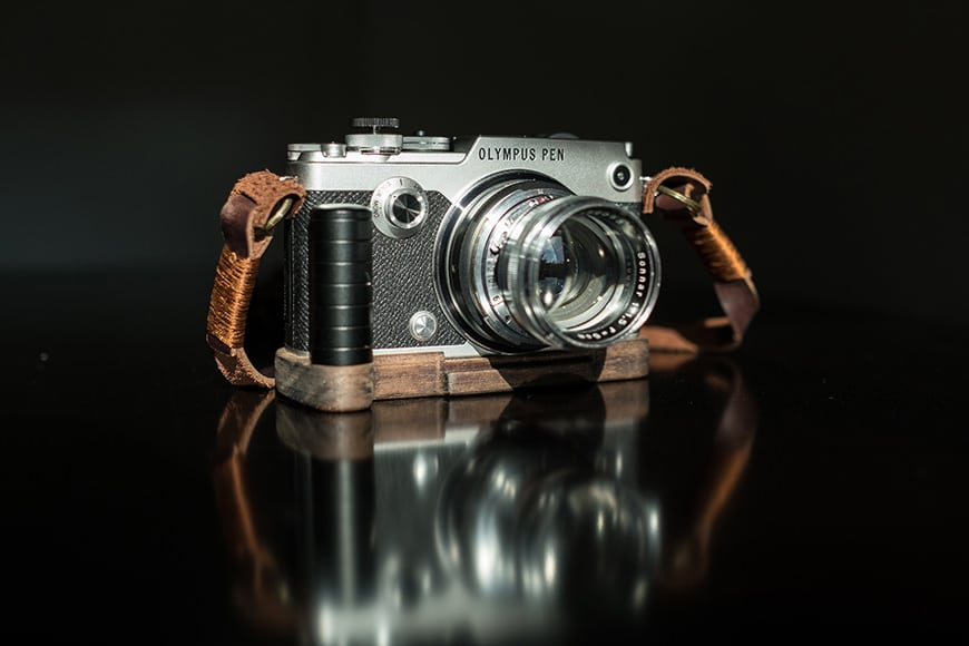 PEN-F with J.B. Camera Designs Pro Wood Grip Wood Grip
