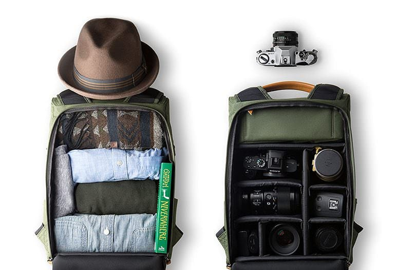 designer camera backpack
