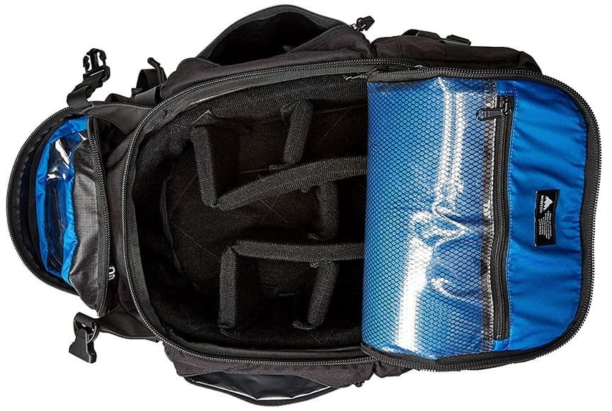 burton camera bag inside