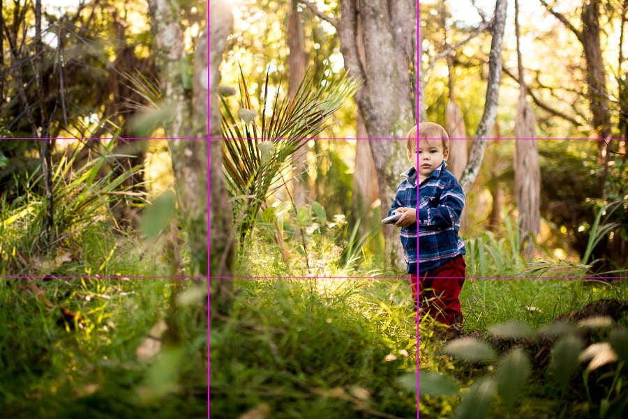 rule of thirds in child photography