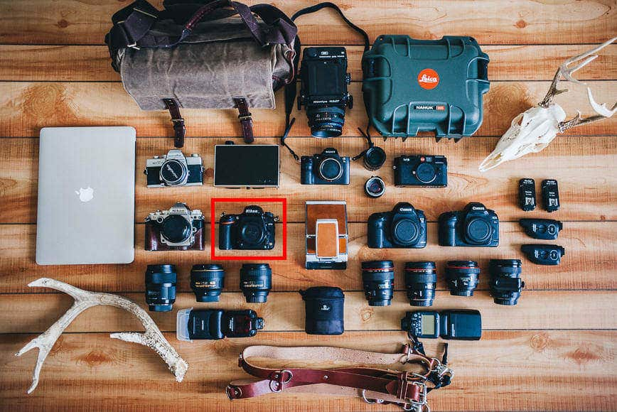 My Camera gear in 2015, featuring a Nikon D750