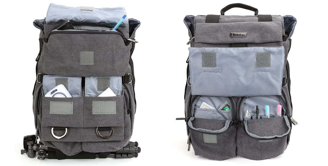 Multiple storage options in this affordable camera backpack