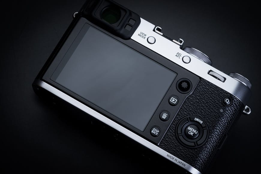 Back of the Fujifilm X100F