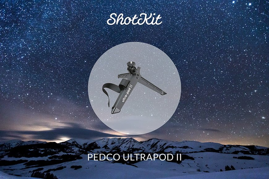 Best Travel Tripods - Pedco UltraPod II - folded height great for backpacking