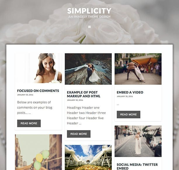 masonry blog style wordpress theme