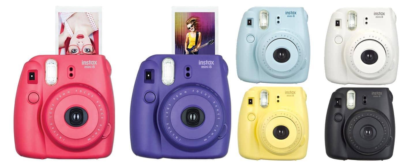 Fuji Instax Mini 8 instant film camera colour options