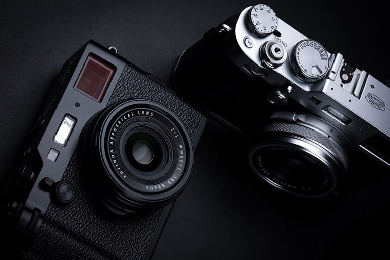 Fujfilm X100F available in black and silver/black