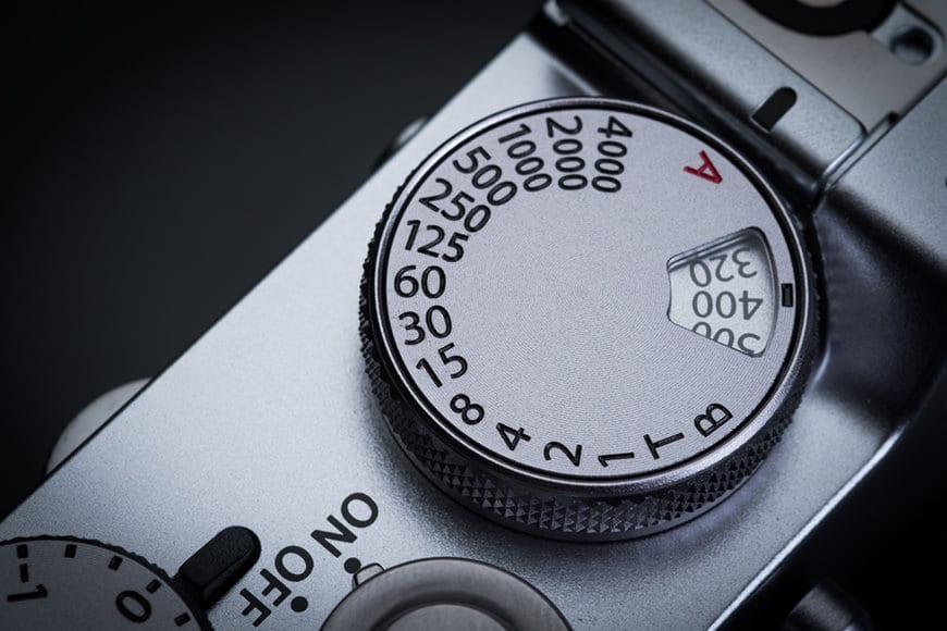 ISO dial on Fujifilm X100F