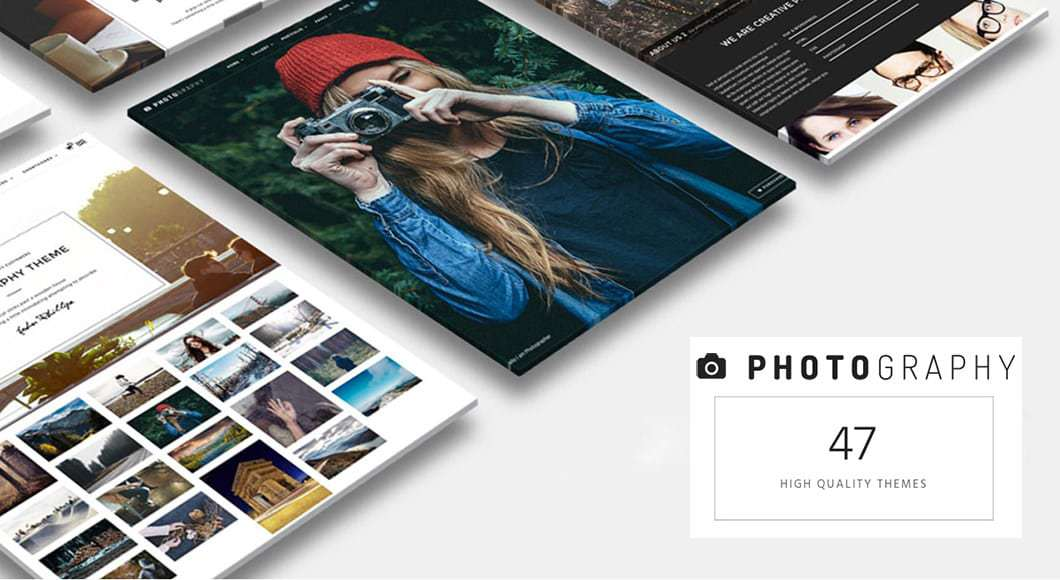 multiple option WordPress photography theme