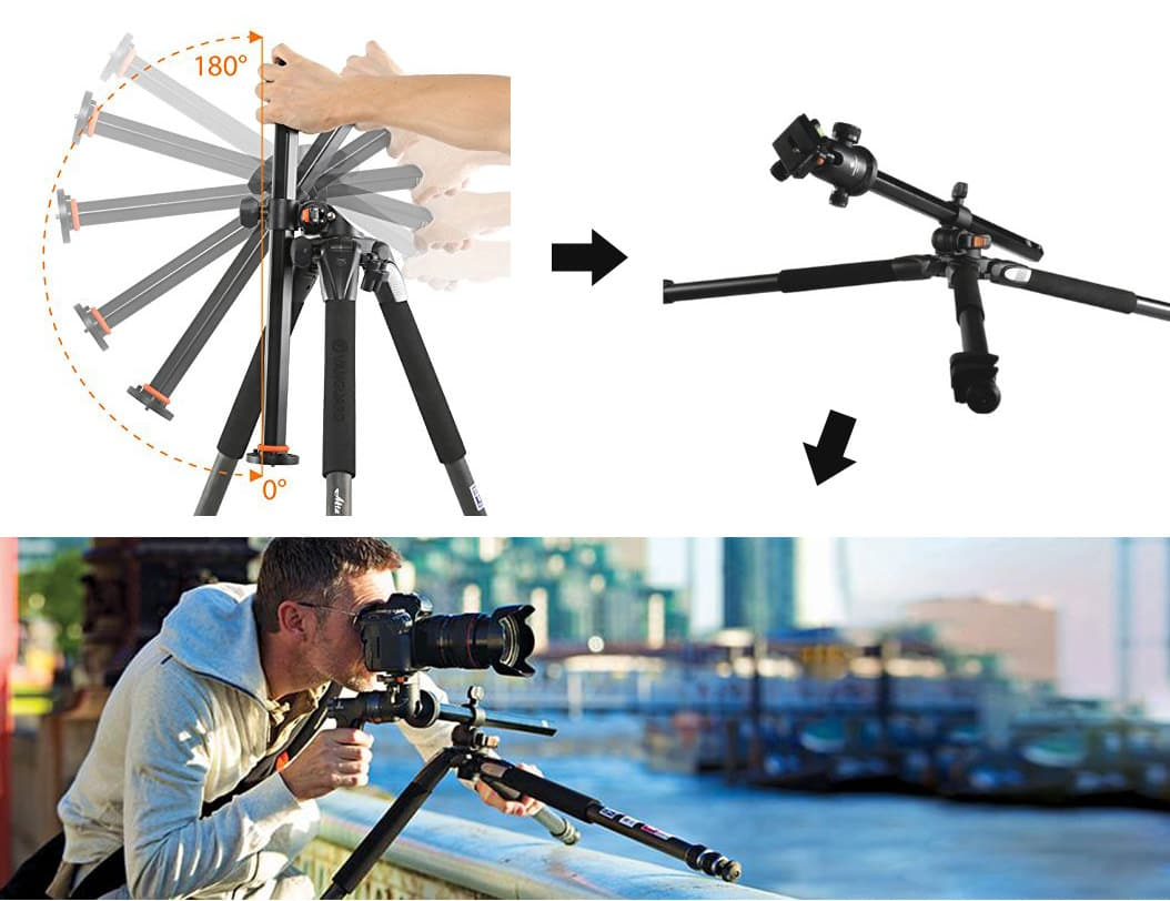 Best Travel Tripods In 2018 Amazing Lightweight Reviewed Slider Excell Rs 1 Vanguard Alta Pro 2643ab 100 Centre Column