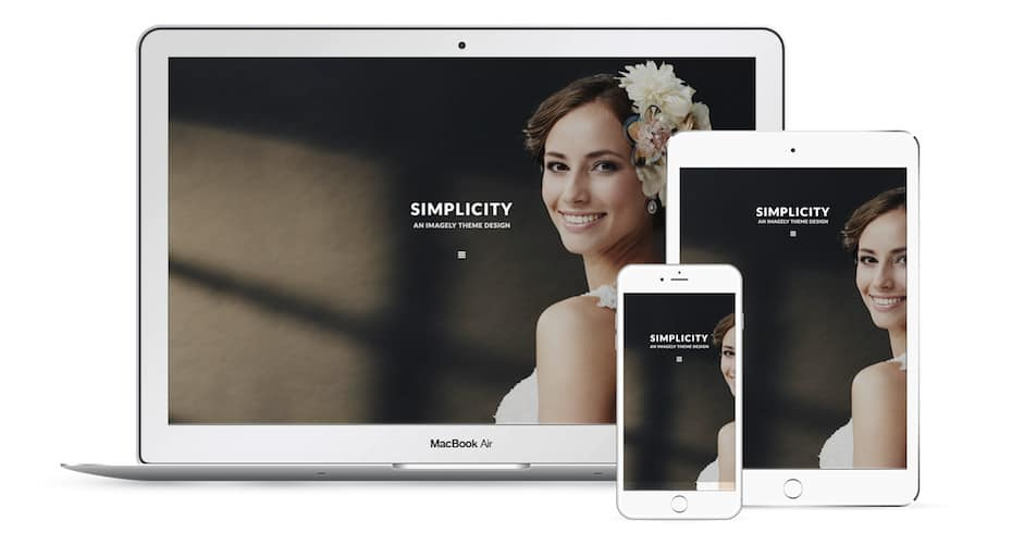 Simplicity - an Imagely wordpress theme for photographers