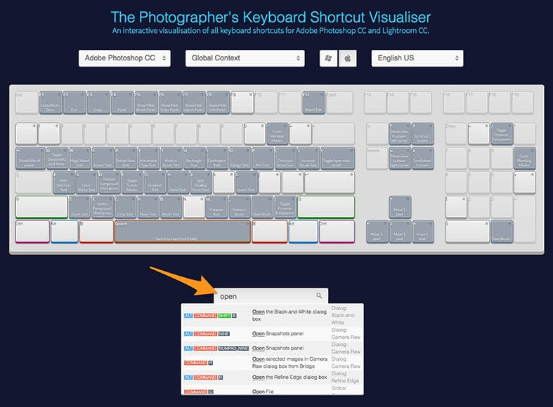 Photoshop shortcuts Mac | Keyboard for Shotkit