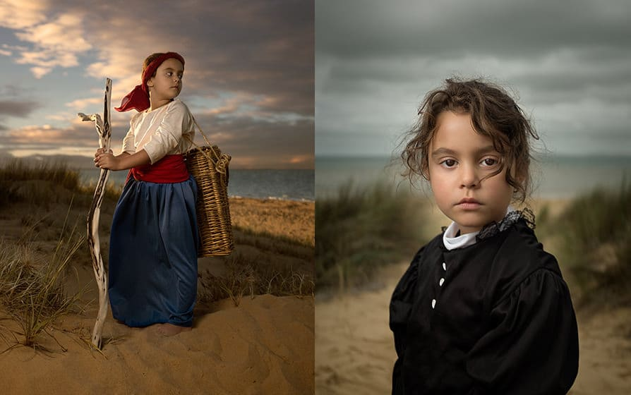 Bill Gekas uses small Yongnuo YN560ii speedlights in conjunction with a crop sensor Fujifilm X100s mirrorless camera and its unique leaf shutter to control the ambient light for dramatic portraits even in midday sun.