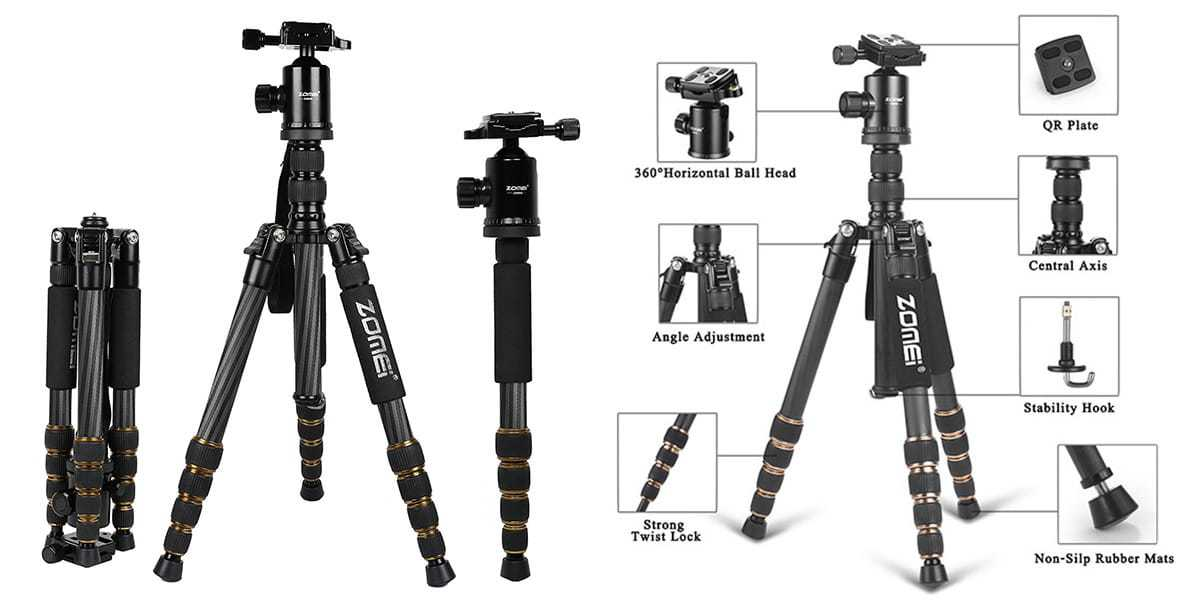 ZOMEI Z699C Portable Carbon Tripod review
