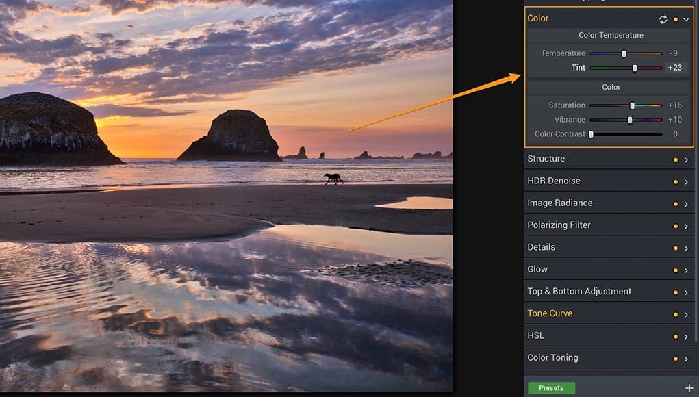 HDR Photography software | Color filter