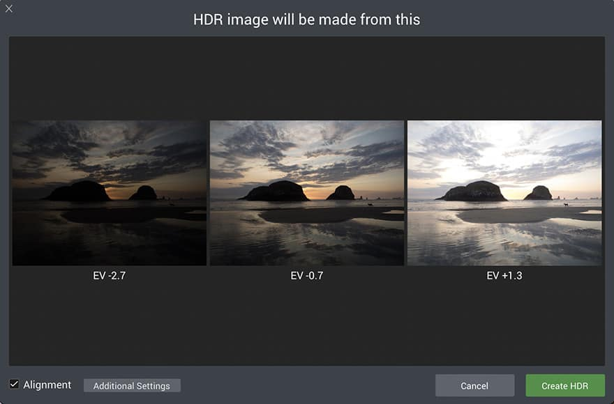 How to do HDR Photography - Merge Window