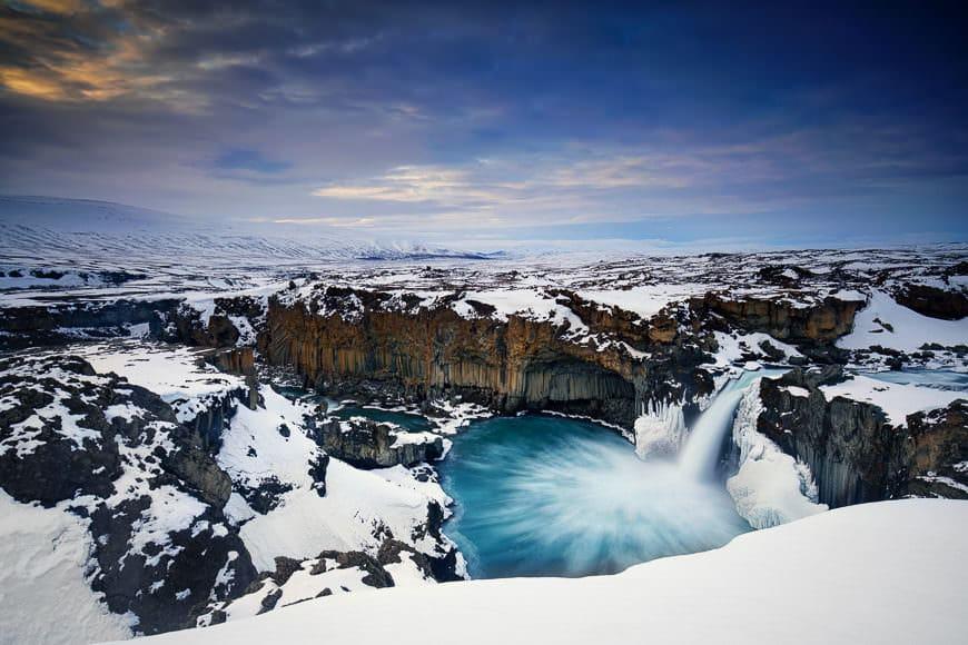 Aldeyjarfoss, Iceland - winter wonderland :)