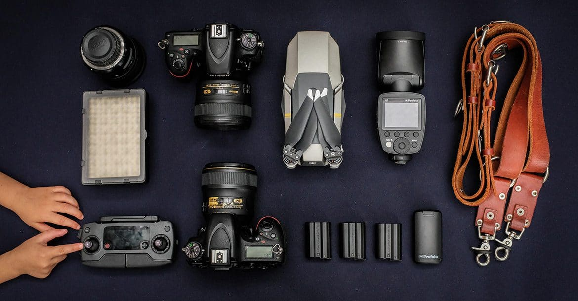 Wedding photography gear