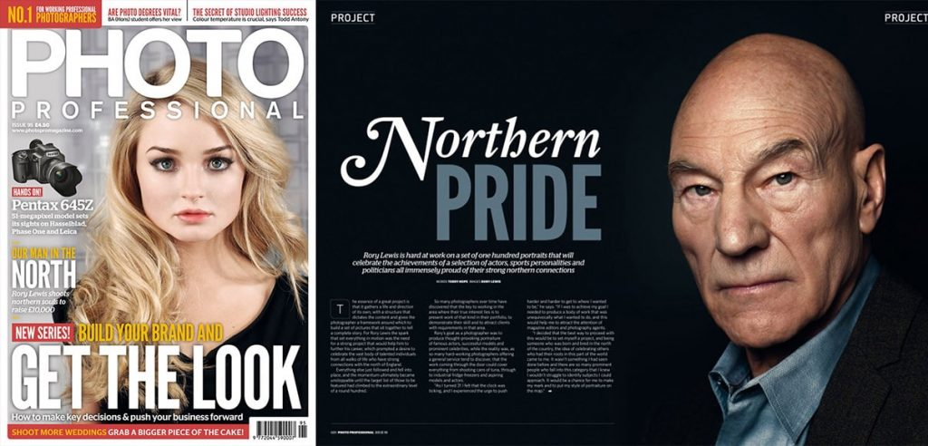 Rory's work with Sir Patrick Stewart featured in Photo Professional Magazine