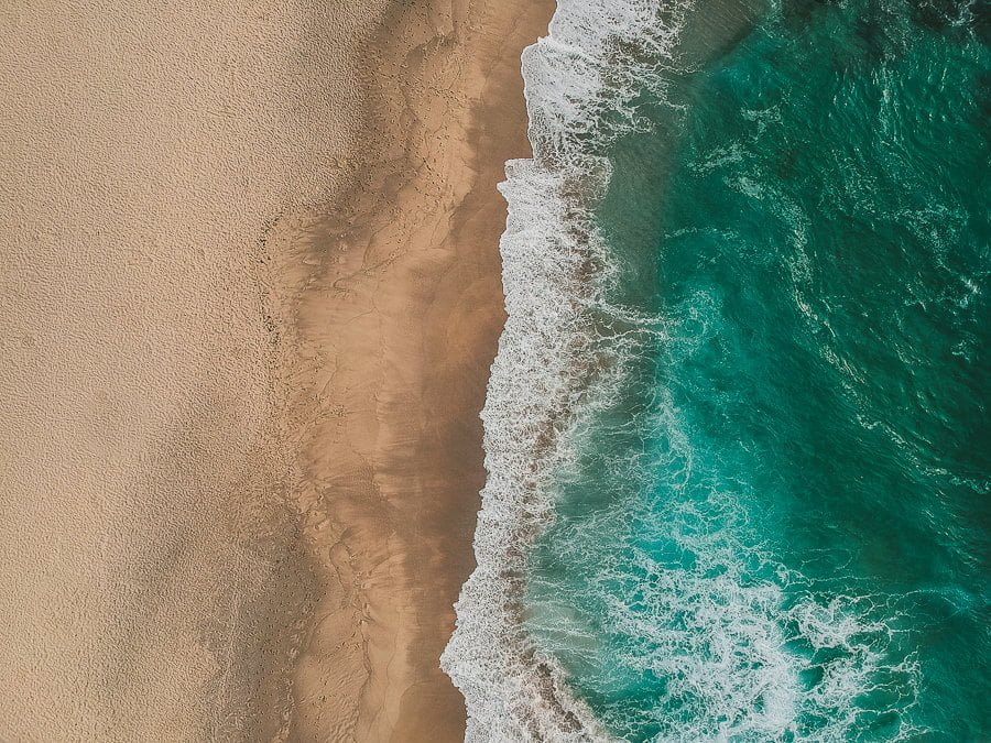 drone photo of beach