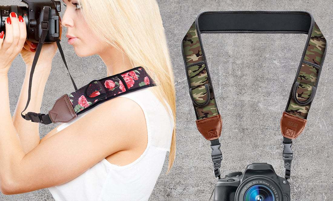 Forest M-Sling Camera Strap with Quick Adjustable System Use as Neck or Sling Strap for DSLR Camera